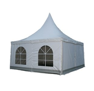 Hemel pagodetent 5x5m (buis pagode) Rooijakkers Party & Events